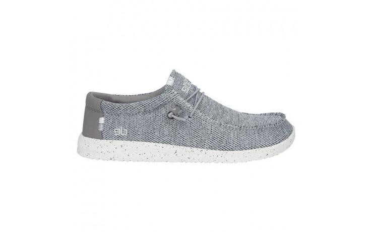 Półbuty heydude wally free light grey, szary, materiał