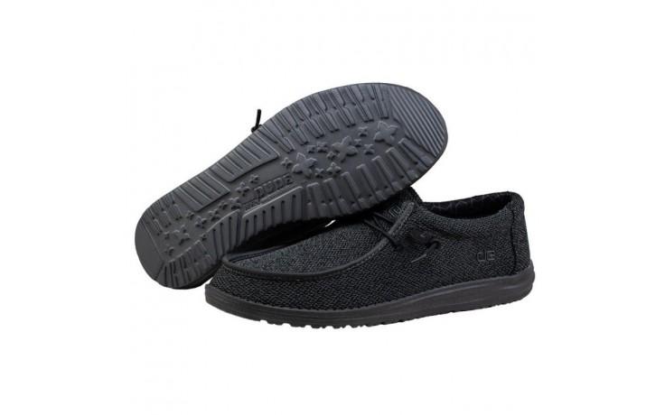 Półbuty heydude wally sox micro total black, czarny, materiał - codzienne / casualowe - półbuty - buty męskie - mężczyzna 3