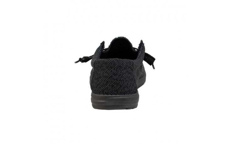Półbuty heydude wally sox micro total black, czarny, materiał - codzienne / casualowe - półbuty - buty męskie - mężczyzna 5
