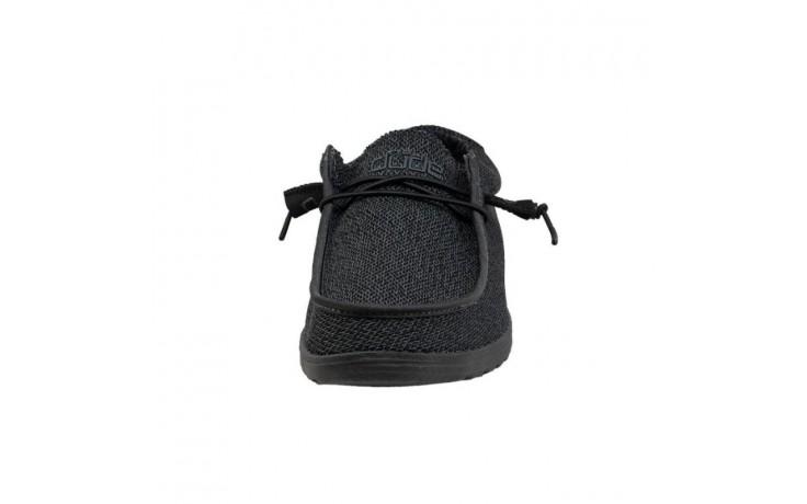 Półbuty heydude wally sox micro total black, czarny, materiał - codzienne / casualowe - półbuty - buty męskie - mężczyzna 4