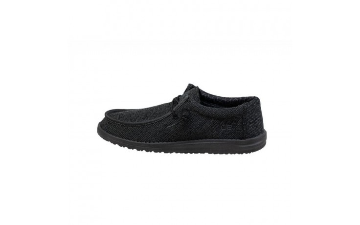 Półbuty heydude wally sox micro total black, czarny, materiał - codzienne / casualowe - półbuty - buty męskie - mężczyzna 2