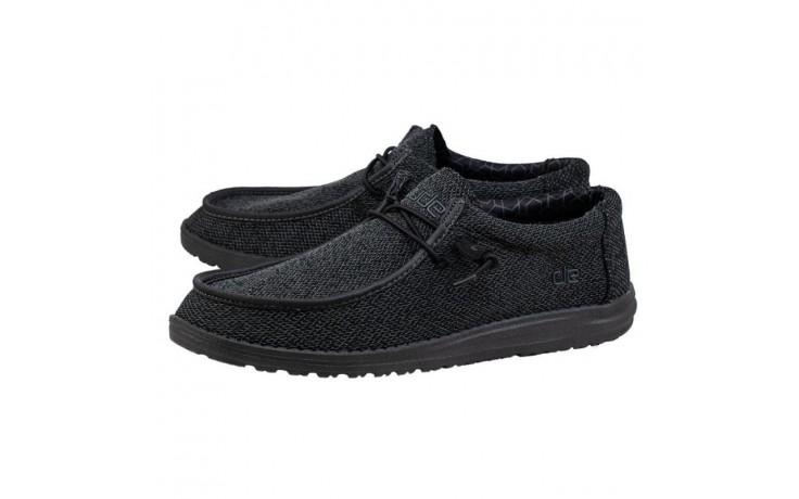 Półbuty heydude wally sox micro total black, czarny, materiał - codzienne / casualowe - półbuty - buty męskie - mężczyzna 1