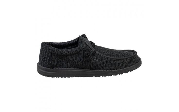 Półbuty heydude wally sox micro total black, czarny, materiał - codzienne / casualowe - półbuty - buty męskie - mężczyzna