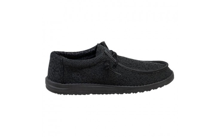 Półbuty heydude wally sox micro total black, czarny, materiał - heydude - nasze marki