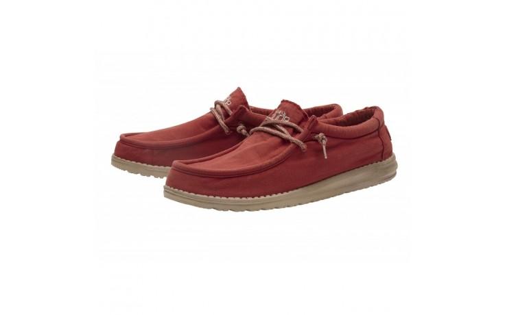 Półbuty heydude wally washed brick, czerwony, materiał - sportowe - półbuty - buty męskie - mężczyzna 1