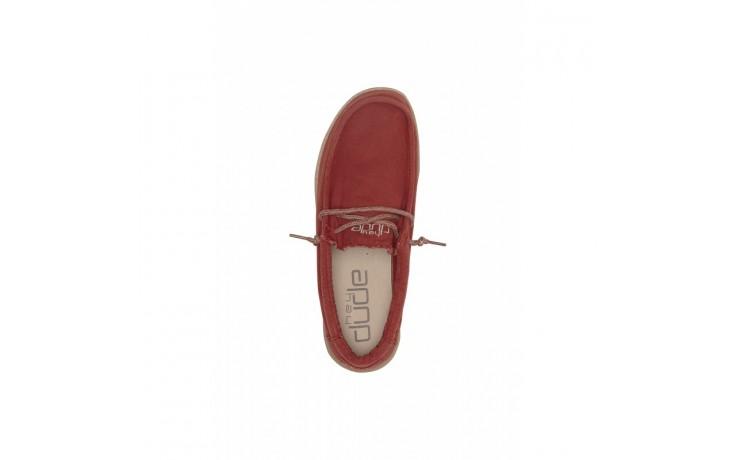 Półbuty heydude wally washed brick, czerwony, materiał - sportowe - półbuty - buty męskie - mężczyzna 5