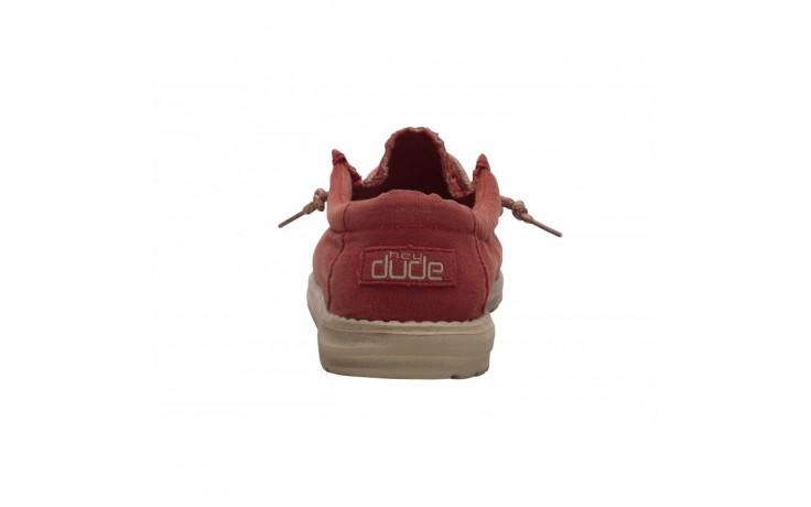 Półbuty heydude wally washed brick, czerwony, materiał - sportowe - półbuty - buty męskie - mężczyzna 4