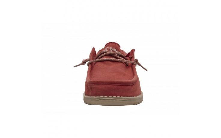 Półbuty heydude wally washed brick, czerwony, materiał - sportowe - półbuty - buty męskie - mężczyzna 3