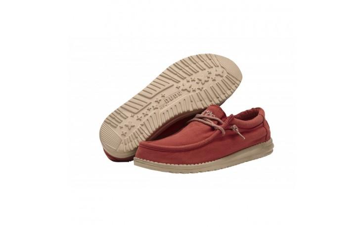 Półbuty heydude wally washed brick, czerwony, materiał - sportowe - półbuty - buty męskie - mężczyzna 2