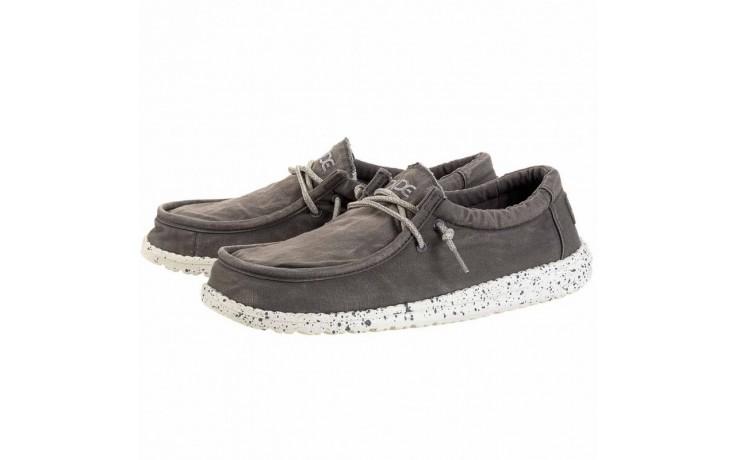 Półbuty heydude wally washed dark grey, szary, materiał - heydude - nasze marki 1