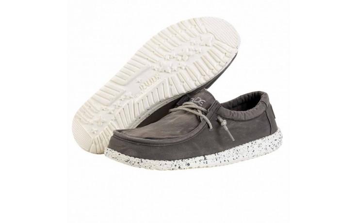 Półbuty heydude wally washed dark grey, szary, materiał - heydude - nasze marki 2