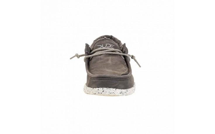 Półbuty heydude wally washed dark grey, szary, materiał - heydude - nasze marki 3