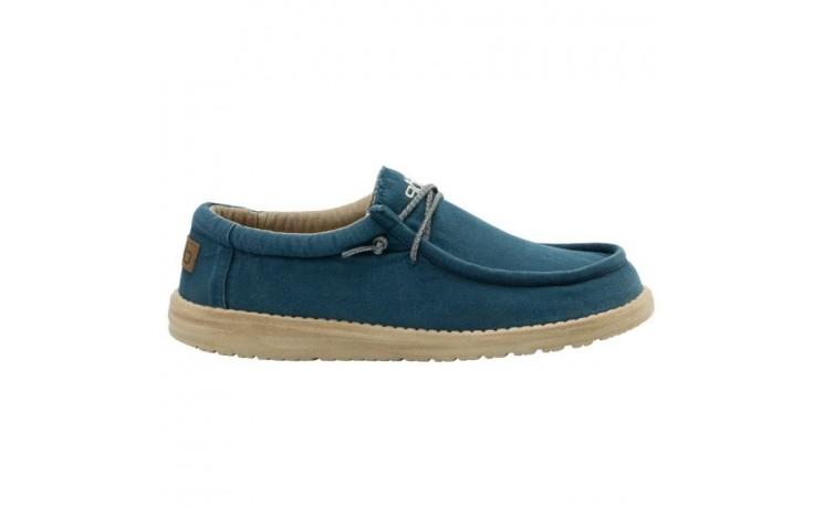 Półbuty heydude wally washed hydro, niebieski, materiał  - półbuty - buty męskie - mężczyzna