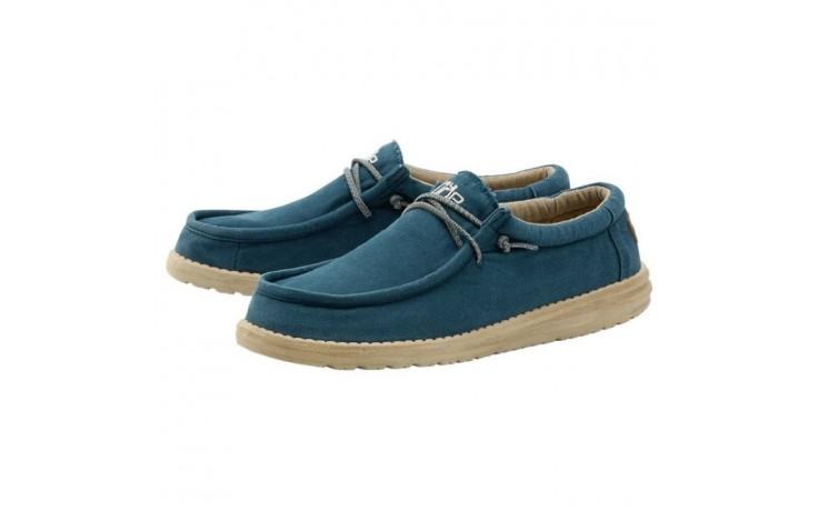 Półbuty heydude wally washed hydro, niebieski, materiał  - półbuty - buty męskie - mężczyzna 1