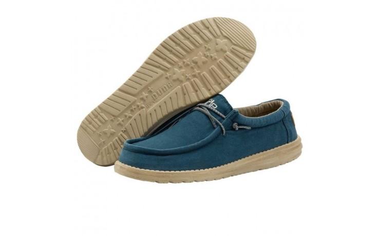 Półbuty heydude wally washed hydro, niebieski, materiał  - półbuty - buty męskie - mężczyzna 2