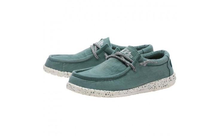Półbuty heydude wally washed teal, zielony, materiał  - sportowe - półbuty - buty męskie - mężczyzna 1