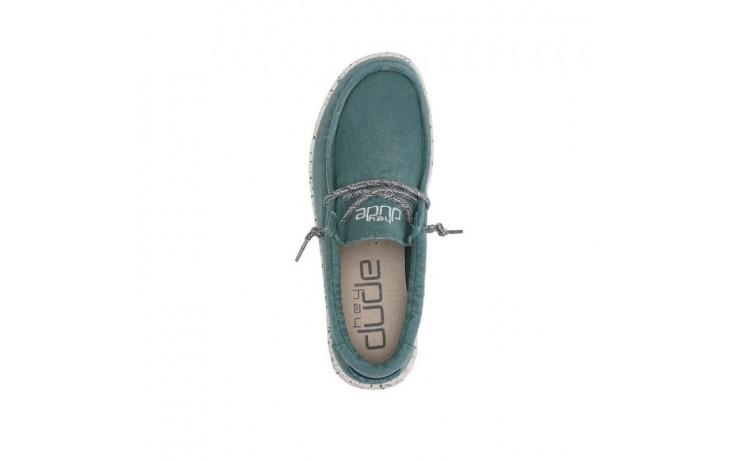 Półbuty heydude wally washed teal, zielony, materiał  - sportowe - półbuty - buty męskie - mężczyzna 4