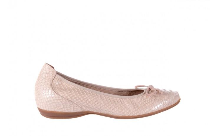 Baleriny wonders a-3050 birlame palo, beż, skóra naturalna  - na koturnie/platformie - baleriny - buty damskie - kobieta