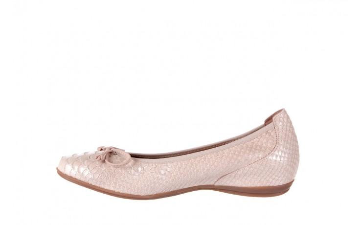 Baleriny wonders a-3050 birlame palo, beż, skóra naturalna  - na koturnie/platformie - baleriny - buty damskie - kobieta 2