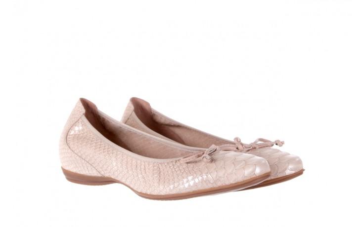 Baleriny wonders a-3050 birlame palo, beż, skóra naturalna  - na koturnie/platformie - baleriny - buty damskie - kobieta 1