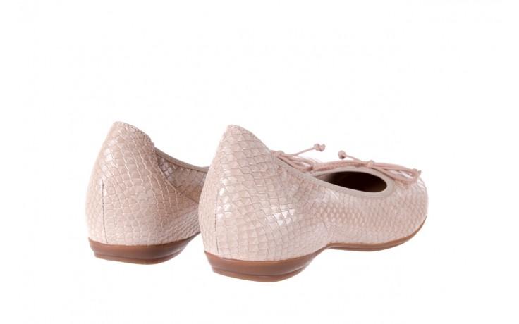 Baleriny wonders a-3050 birlame palo, beż, skóra naturalna  - na koturnie/platformie - baleriny - buty damskie - kobieta 3