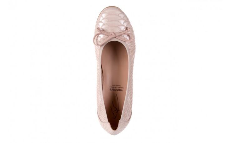 Baleriny wonders a-3050 birlame palo, beż, skóra naturalna  - na koturnie/platformie - baleriny - buty damskie - kobieta 4