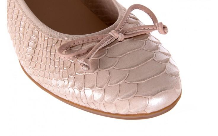 Baleriny wonders a-3050 birlame palo, beż, skóra naturalna  - na koturnie/platformie - baleriny - buty damskie - kobieta 5