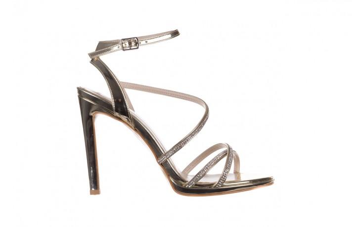 Sandały bayla-187 589-9078 złoty, skóra ekologiczna  - na obcasie - sandały - buty damskie - kobieta