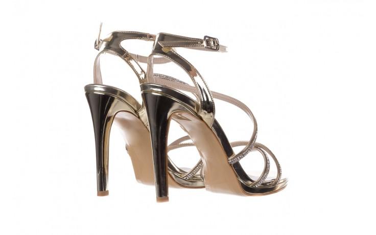 Sandały bayla-187 589-9078 złoty, skóra ekologiczna  - na obcasie - sandały - buty damskie - kobieta 3