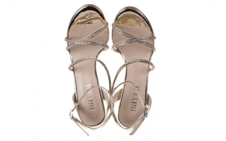 Sandały bayla-187 589-9078 złoty, skóra ekologiczna  - na obcasie - sandały - buty damskie - kobieta 4