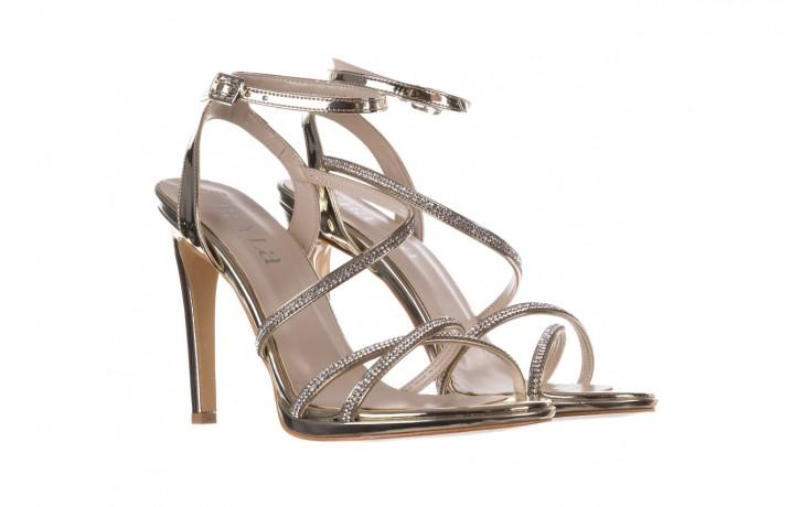 Sandały bayla-187 589-9078 złoty, skóra ekologiczna  - na obcasie - sandały - buty damskie - kobieta 1