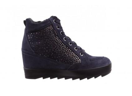 Sneakersy IGI&CO 8800200 Blu, Granat, Skóra naturalna