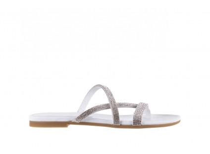 Klapki Bayla-112 0396-304 White, Biały, Skóra naturalna
