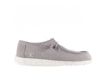 HeyDude Wally Perforated Light Grey