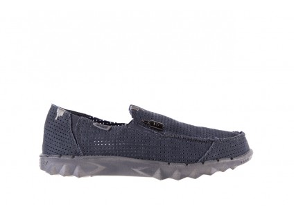 Półbuty HeyDude Farty Perforated Navy 18, Granat, Materiał