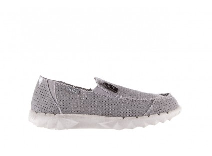 HeyDude Farty Perforated Light Grey