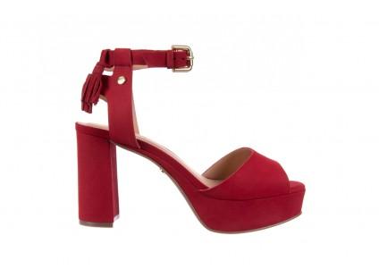 Bayla-067 129006 Nobuck Red Velvet