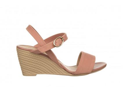 Sandały Azaleia 680 242 Suede Old Pink, Róż, Materiał