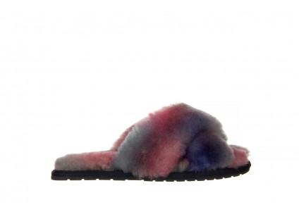 Kapcie Emu Mayberry Tie Dye Sunset Purple 119136, Fiolet, Futro naturalne