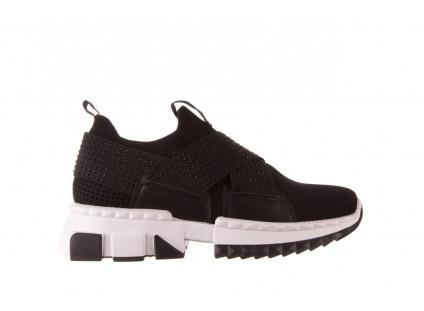 Sneakersy Sca'viola L-06 Black, Czarny, Materiał