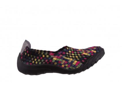 Półbuty Rock Inoko 20 Yellow Purple Fuchsia Smoke Blk 21 032842, Czarny, Materiał