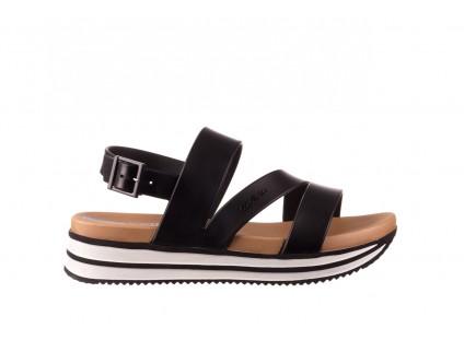 Sandały Azaleia 260 497 Black, Czarny, Guma