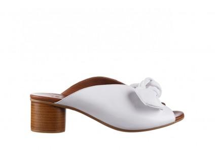 Klapki Bayla-161 061 1029 White, Biały, Skóra naturalna
