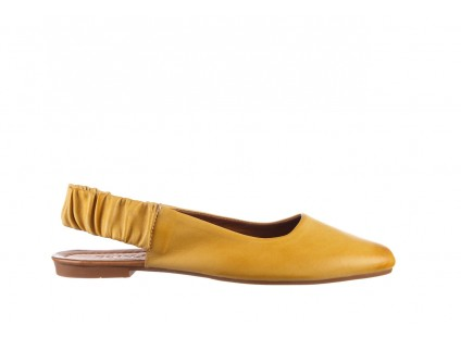Sandały Bayla-161 066 730 353 Yellow, Żółty, Skóra naturalna