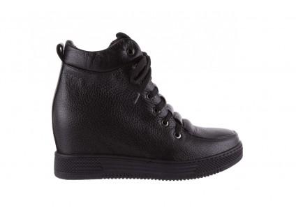 Sneakresy Bayla-112 0235-IO-20 Czarne Sneakersy, Skóra naturalna