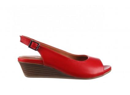 Sandały Bayla-161 078 606 3 02 Red, Czerwony, Skóra naturalna