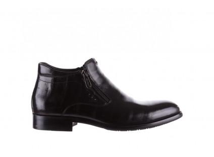 Półbuty Brooman 7721B-712G183-R Black, Czarny, Skóra naturalna
