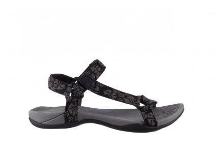 Sandały Rock Vinay Black Grey, Czarny/ Szary, Materiał