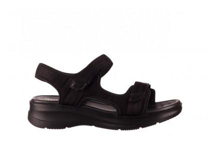 Sandały Azaleia 330 560 Black, Czarny, Materiał