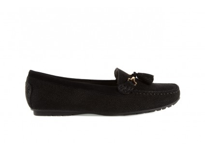 Bayla-018 1537-43 Black Grain Epoxy Kid Suede